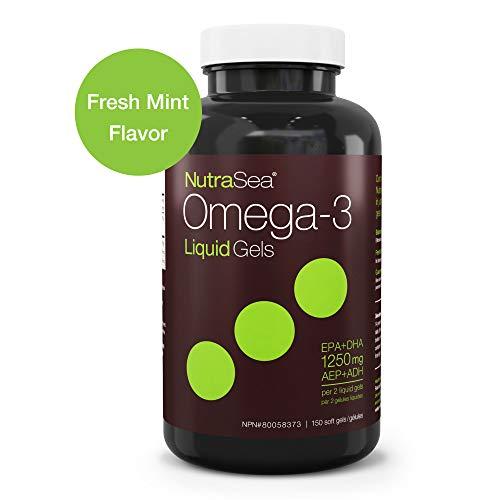 Nature's Way NutraSea Omega 3 Supplement Liquid Gels, Fresh Mint, 150 Soft ()