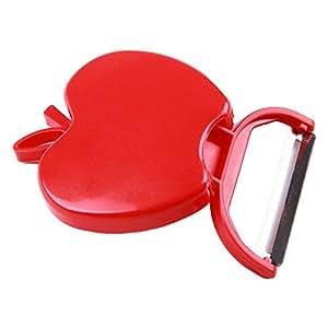 iHaushalt Apple Shape Stainless Steel Fruit Peeler (Red)