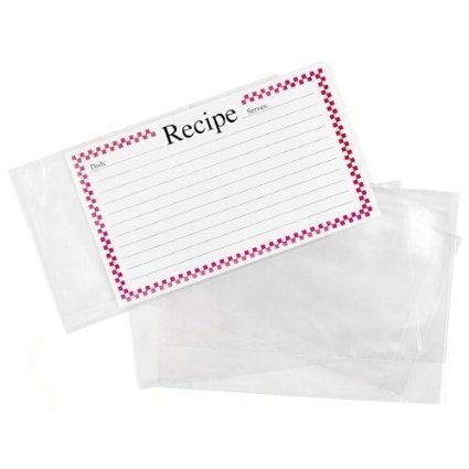 BigKitchen - Clear Vinyl 4 X 6 Inch Recipe Card Covers, Set of 48 - 2 Pack