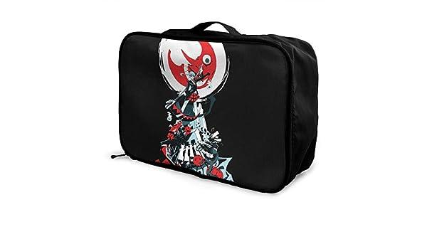 Soul Eater Lightweight Large Capacity Portable Luggage Bag Hanging Organizer Bag Makeup Bag
