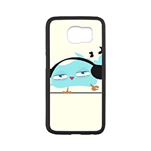 ZOEHOME Phone Case Of Lovely fat bird,Hard Case !Slim and Light weight and won't fade, Scratch proof and Water proof.Compatible with All Carriers Allows access to all buttons and ports. For Samsung Galaxy S6 G9200