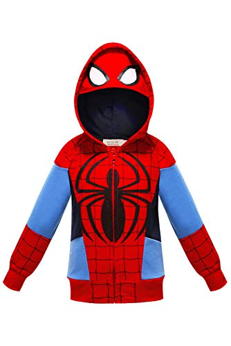 Kids Toddler Peter Parker Homecoming Cosplay Costume Hoodie Zip up Sweatshirt Jacket Outfit ()