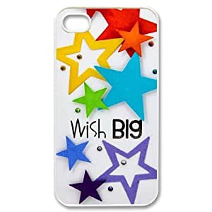 Beautiful stars Unique Design Cover Case with Hard Shell Protection for Iphone 4,4S Case lxa#466384