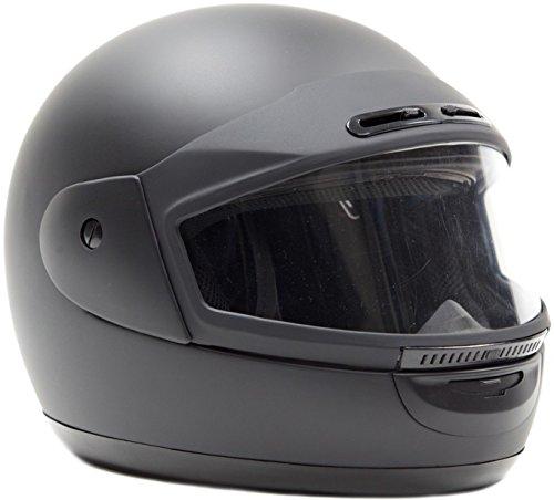 Typhoon Helmets Adult Snowmobile Helmet Mens Womens Full Face Dual Lens Anti Fog - Flat Matte Black...