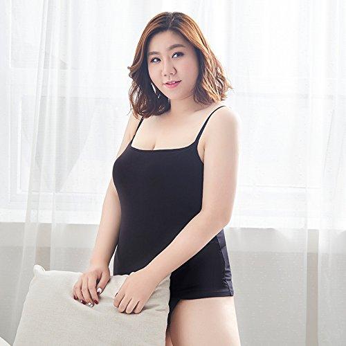 ZHFC-La Mujer sin Sujetador Anillo de Acero tamaño de Copa de Sujetador un Chaleco Casual Ropa Interior Negro Gris: Amazon.es: Ropa y accesorios
