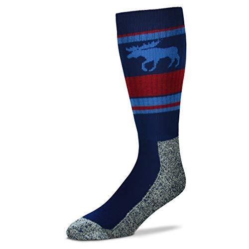 For Bare Feet Women's Fbf Originals Wildlife Novelty Sock, Moose Wild Stripes, Medium