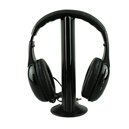 Wireless Headphone, E-SCENERY 5IN1 Casque Audio Sans Fil Ecouteur Hi-Fi Radio FM TV MP3 MP4