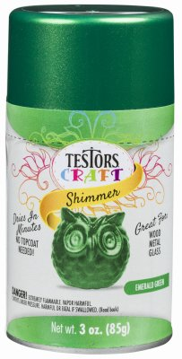 Testors 304363 Craft Paint, Emerald Green Shimmer, 3-oz. Aerosol - Quantity - Shimmer Emerald
