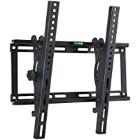 Tilting TV Wall Mount Bracket for 23-55 Samsung Sony Vizio LG Sharp LED LCD OLED Plasma Flat Screen TVs with VESA 400x400mm Super Strong 132lbs Capacity, Fits 16 Wall Studs Includes Bubble Level