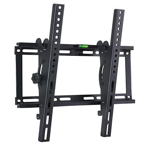 """Price comparison product image Tilting TV Wall Mount Bracket for 23-55"""" Samsung Sony Vizio LG Sharp LED LCD OLED Plasma Flat Screen TVs with VESA 400x400mm Super Strong 132lbs Capacity, Fits 16"""" Wall Studs Includes Bubble Level"""