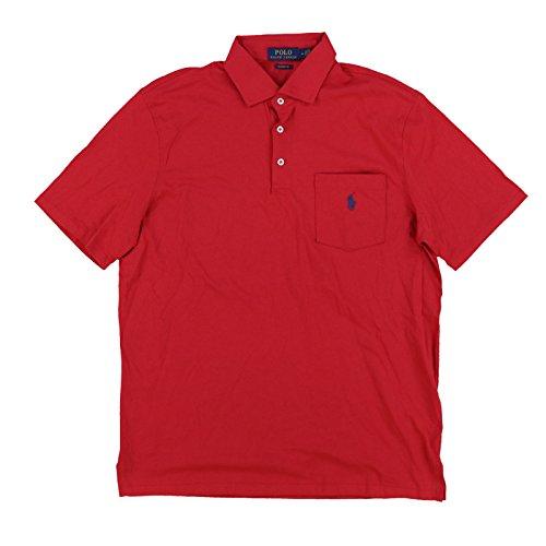 ns Interlock Pocket Polo Shirt (Medium, Red) ()
