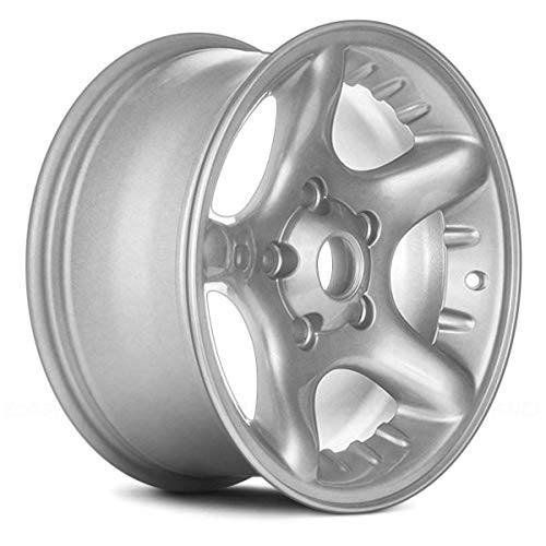 Replacement 5 Spokes Sparkle Silver Factory Alloy Wheel Fits Dodge Ram: 1500