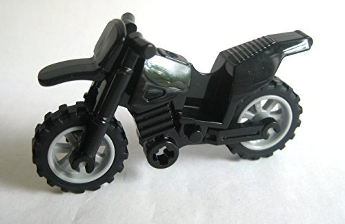 Lego Black Motorcycle Dirtbike Vehicle for Minifigures (loose)