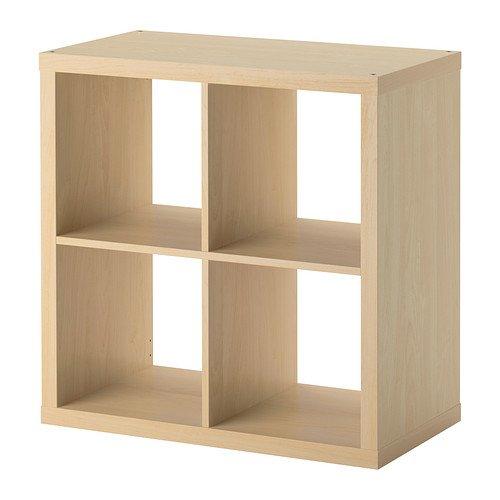 ikea-kallax-bookcase-shelving-unit-display-birch-effect-brown-modern-shelf
