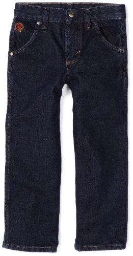 Wrangler Big Boys' 20X Jeans, Relaxed Fit, Stone Dark Denim, 16 Slim
