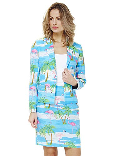 OppoSuits Crazy Suits with Funny Prints for Women- Full Set: Jacket and Skirt]()