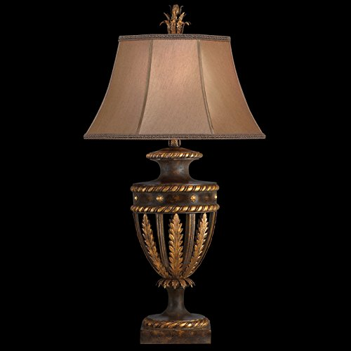Fine Art Lamps 229710, Castile Tall 3 Way Table Lamp, 1 Light, 150 Total Watts, Gold Leaf - Castile 3 Light