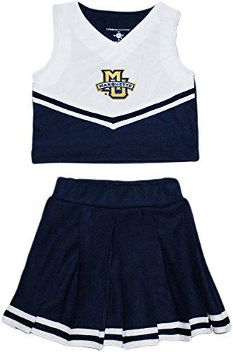 Dress Piece Cheerleader 2 (Creative Knitwear Marquette University 2 Piece Cheerleader Dress)