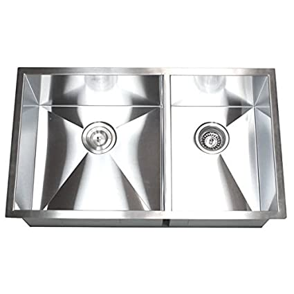 Superbe Contempo Living Inc Double Bowl 60/40 32 Inch Undermount Kitchen Sink