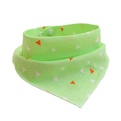 MZjJPN Pet Dog Bandana Bibs Scarf Collar Adjustable Printing Cat Grooming Neckerchief Saliva Towel for Small Dogs Chien Perro,Green Triangle Print,4 Pcs