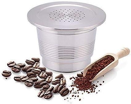 Cápsula de café de acero inoxidable para Nespresso Cafetera uso ...