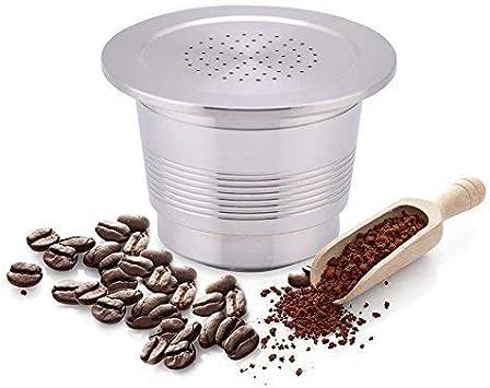 Yosoo Cápsulas Recargable Reutilizable de Café para Cafetera Cápsula de Acero Inoxidable