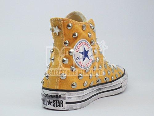 Converse all star Borchie borchiate giallo Solar.O (prodotto artigianale )
