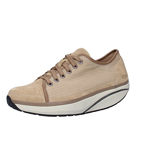 MBT Sneakers Damen Textil Wildleder (37 EU, Beige)