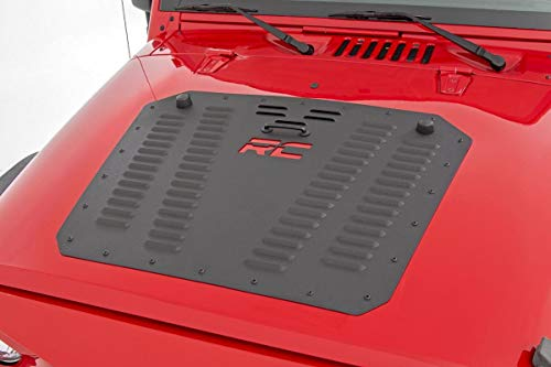 Rough Country Hood Louver Fits 2007-2018 [ Jeep ] Wrangler JK Powder Coated 10527