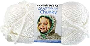 Bernat Softee Baby Chunky Yarn, Solid, 5 Ounce, Cream Puff, Single Ball