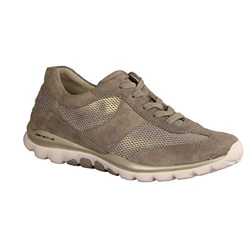 Rollingsoft Shoes Femme Gabor silber Gris grau Basses Sneakers 39 pOZnwq5