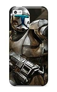 High Grade Matt L Morrow Flexible Tpu Case For Iphone 5c - Star Wars Republic Commando