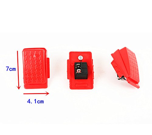 Accelerator Foot Pedal Electric Switch Accessories for Kids Ride On Car Children Electric Ride On Toy Replacement Parts Red 2-pin Socket