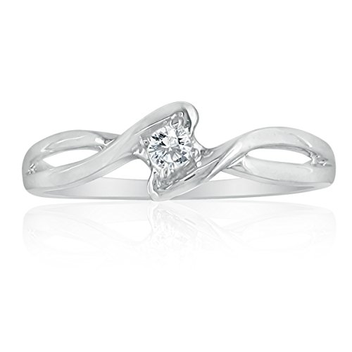 sterling silver twisted promise ring promise