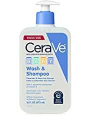 CeraVe Baby Wash & Shampoo | Fragrance, Paraben, & Sulfate Free Shampoo for Tear-Free Baby Bath Time