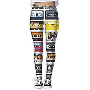 New Tape Printing Design Compression Leggings Pants Tights For Women S-XL
