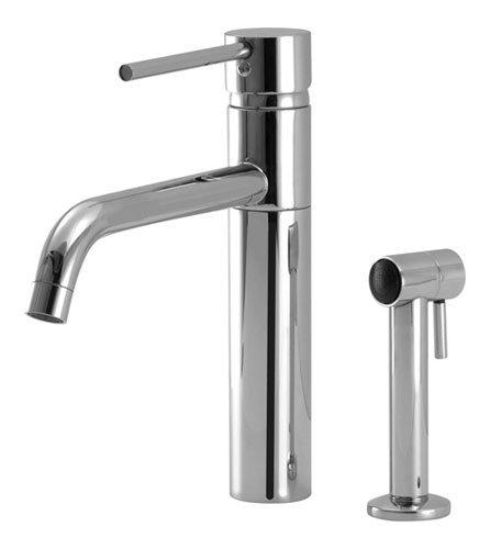 Aqua Brass Single Lever Faucet W/ Swivel Spout & Side Spray 1102Spc Polished (Aqua Brass Swivel Faucet)