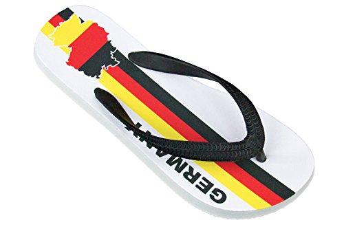 in GERMANY Flip Fan Reise und Design Palupas Zuhause Unisex im Edition für GERMANY inkl Fußball Ideal Sport Schuhbeutel Badelatschen KOSTENLOSEN Deutschland White MADE 0aww1x