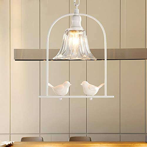 FidgetGear Modern Resin Bird Chandelier Fixture Bar Cafe Pendant Light Ceiling Lamp PL602 White by FidgetGear (Image #2)