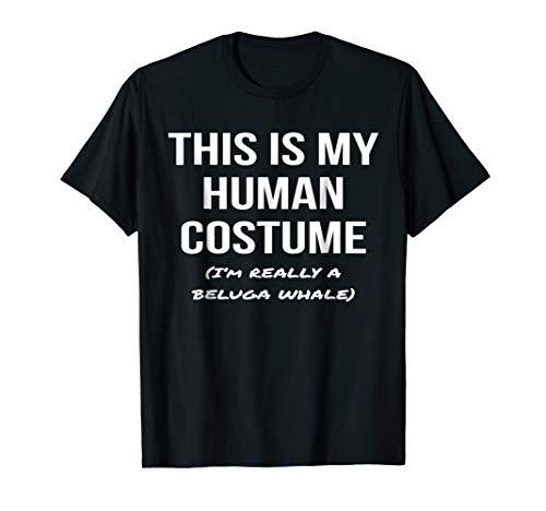Human Costume I'm Really a Beluga Whale Shirt Costume -