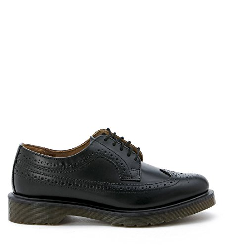 Eyelet Black Leather (Dr.Martens Mens 3989 5 Eyelet Black Leather Shoes 10.5 US)