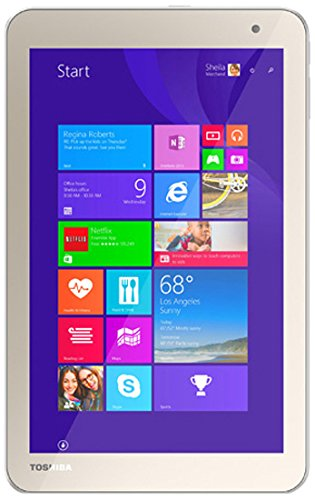 Toshiba Toshiba Encore-2 Tablet, INTEL:Z3735F, 1.33 GHz, 64 GB, Intel-HD/IGP, Windows 8.1/7 Professional, Satin Gold, 8