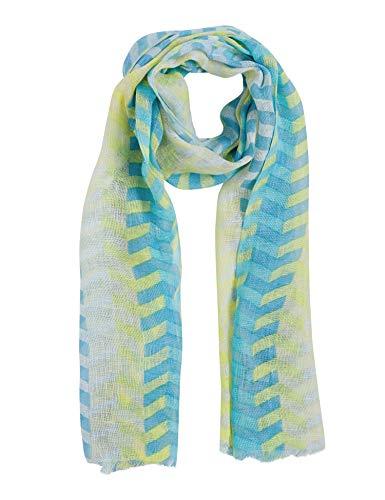 - Indigo Paisley Women's Woven Scarf | 100% Linen Stripe Printed