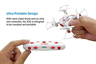 Tenergy Syma X20 Mini Headless Quadcopter RC Drone with Stunt Altitude Holding for Beginner (White) from Tenergy