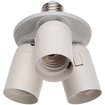 ABI 3 to 1 Light Socket E26 Splitter L& Base Adapter for Standard LED and CFL  sc 1 st  Amazon.com & Toplimit 3 in 1 Standard Light Bulb Lamp Socket Adapter Splitter ... azcodes.com