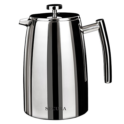 French Press Coffee Maker Problems : Secura 1500ML French-Press Coffee Maker,-50-Ounce, Stainless-Steel 18/10-SFP-50DSC, Extra ...