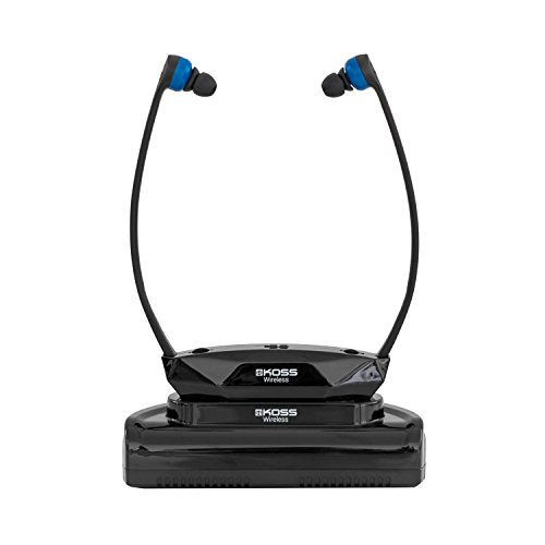 (Koss Wireless TV Headphones | Headset System for Wireless Television Listening | Wireless Infrared Technology | Base Station Included | Easy Set-Up | Light Weight Design | Three Cushion Sizes Included)