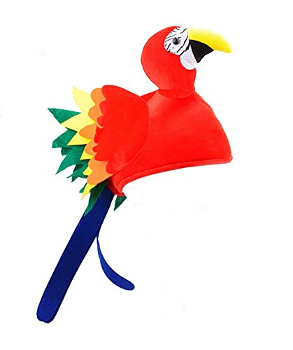 Nicky Bigs Novelties Velvet Parrot Hat, Multi-Color, One Size