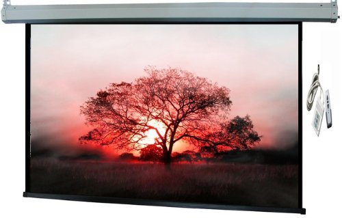 """120 """" 16:9 RATIO with Wire and Wireless Remote Advantage Deluxe Motorized Electric Projection Screen Front Certified PS120"""