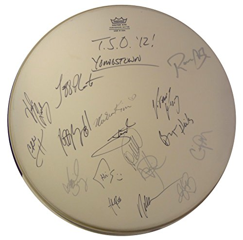 - Signed Trans Siberian Orchestra Winter Tso Tour Drumhead w/Pics